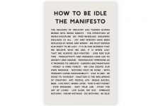 how to be idle manifesto print