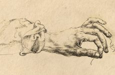"Detail from ""Study of Three Hands"" by Dürer, 1490"