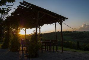 Villa Pia sunset