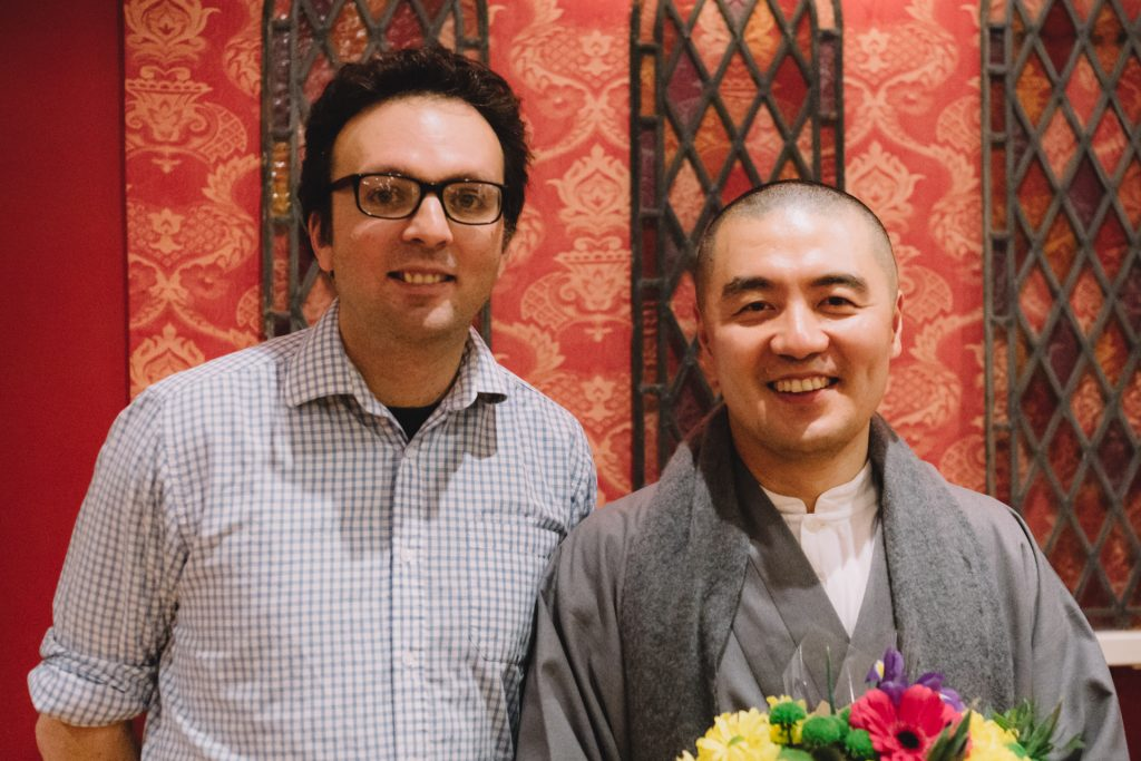 Tom Hodgkinson with Haemin Sunim